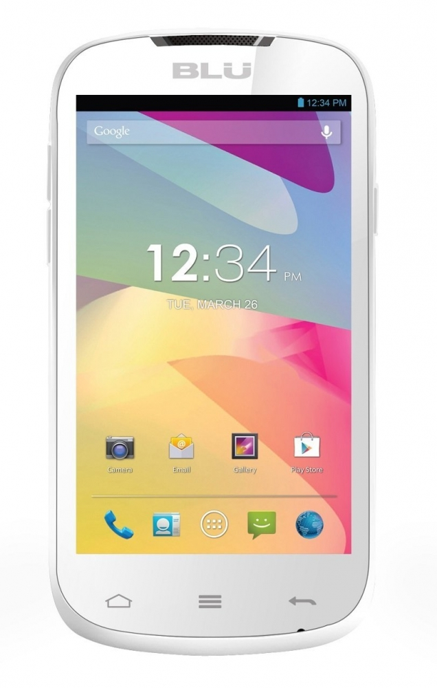 BLU Dash 4'', 480 x 800 Pixeles, Android 4.2, Bluetooth 4.0, WLAN, Blanco