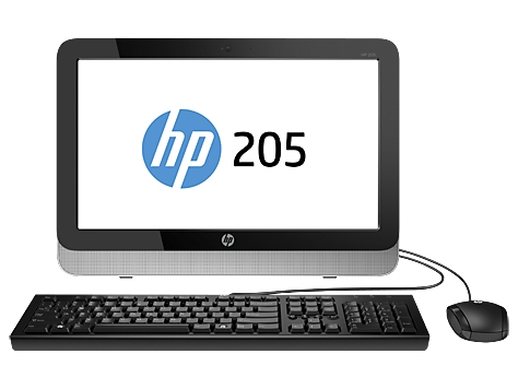 HP 205 G1 All-in-One 18.5'', AMD E1-2500 1.40GHz, 4GB, 500GB, Windows 8.1 64-bit, Negro/Plata